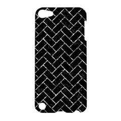 Brick2 Black Marble & Silver Foil (r) Apple Ipod Touch 5 Hardshell Case by trendistuff