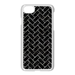 Brick2 Black Marble & Silver Foil (r) Apple Iphone 7 Seamless Case (white) by trendistuff