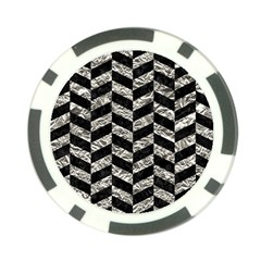 Chevron1 Black Marble & Silver Foil Poker Chip Card Guard (10 Pack) by trendistuff