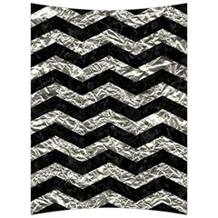 Chevron3 Black Marble & Silver Foil Back Support Cushion