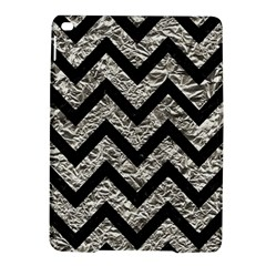 Chevron9 Black Marble & Silver Foil Ipad Air 2 Hardshell Cases by trendistuff