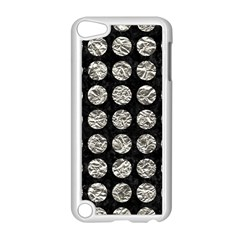 Circles1 Black Marble & Silver Foil (r) Apple Ipod Touch 5 Case (white) by trendistuff