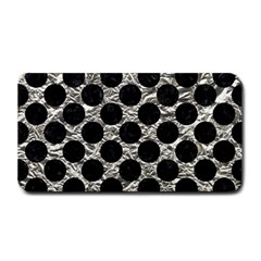 Circles2 Black Marble & Silver Foil Medium Bar Mats by trendistuff
