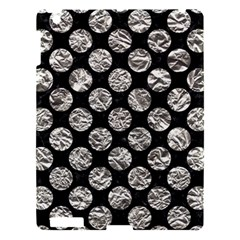 Circles2 Black Marble & Silver Foil (r) Apple Ipad 3/4 Hardshell Case by trendistuff