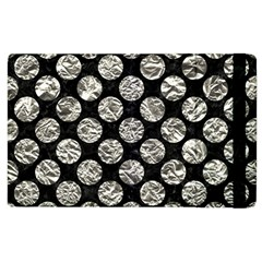 Circles2 Black Marble & Silver Foil (r) Apple Ipad 2 Flip Case by trendistuff