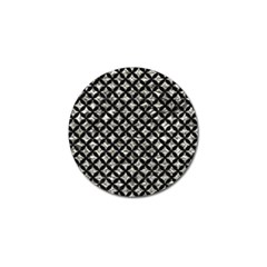 Circles3 Black Marble & Silver Foil Golf Ball Marker (4 Pack) by trendistuff