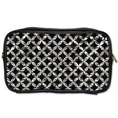 Circles3 Black Marble & Silver Foil (r) Toiletries Bags 2 Side by trendistuff