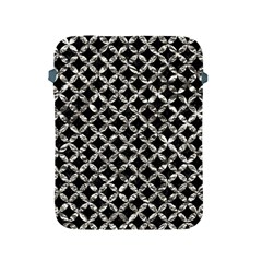 Circles3 Black Marble & Silver Foil (r) Apple Ipad 2/3/4 Protective Soft Cases by trendistuff