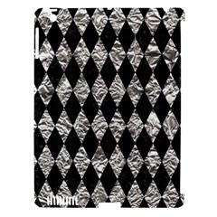 Diamond1 Black Marble & Silver Foil Apple Ipad 3/4 Hardshell Case (compatible With Smart Cover) by trendistuff