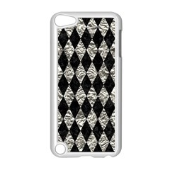 Diamond1 Black Marble & Silver Foil Apple Ipod Touch 5 Case (white) by trendistuff