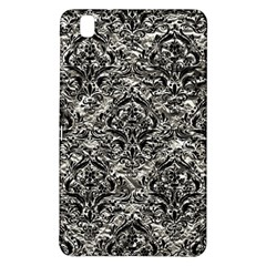 Damask1 Black Marble & Silver Foil Samsung Galaxy Tab Pro 8 4 Hardshell Case by trendistuff