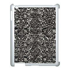 Damask2 Black Marble & Silver Foil Apple Ipad 3/4 Case (white) by trendistuff