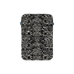 Damask2 Black Marble & Silver Foil (r) Apple Ipad Mini Protective Soft Cases by trendistuff