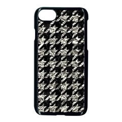 Houndstooth1 Black Marble & Silver Foil Apple Iphone 7 Seamless Case (black) by trendistuff