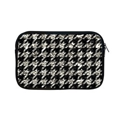 Houndstooth1 Black Marble & Silver Foil Apple Macbook Pro 13  Zipper Case