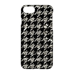 Houndstooth1 Black Marble & Silver Foil Apple Iphone 8 Hardshell Case by trendistuff