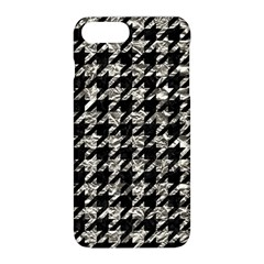 Houndstooth1 Black Marble & Silver Foil Apple Iphone 8 Plus Hardshell Case by trendistuff