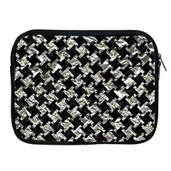 Houndstooth2 Black Marble & Silver Foil Apple Ipad 2/3/4 Zipper Cases by trendistuff