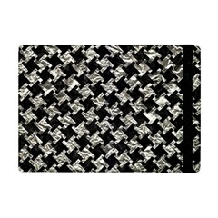 Houndstooth2 Black Marble & Silver Foil Ipad Mini 2 Flip Cases by trendistuff