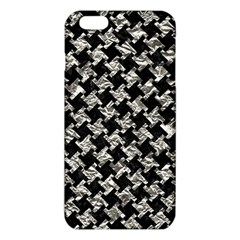 Houndstooth2 Black Marble & Silver Foil Iphone 6 Plus/6s Plus Tpu Case by trendistuff