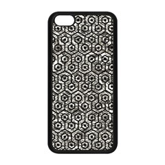Hexagon1 Black Marble & Silver Foil Apple Iphone 5c Seamless Case (black) by trendistuff