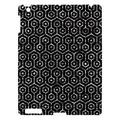 Hexagon1 Black Marble & Silver Foil (r) Apple Ipad 3/4 Hardshell Case by trendistuff