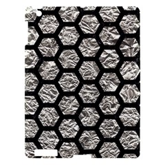 Hexagon2 Black Marble & Silver Foil Apple Ipad 3/4 Hardshell Case by trendistuff