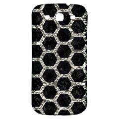 Hexagon2 Black Marble & Silver Foil (r) Samsung Galaxy S3 S Iii Classic Hardshell Back Case by trendistuff