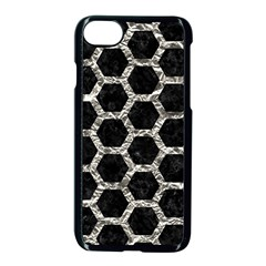 Hexagon2 Black Marble & Silver Foil (r) Apple Iphone 7 Seamless Case (black) by trendistuff