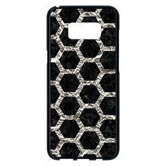 Hexagon2 Black Marble & Silver Foil (r) Samsung Galaxy S8 Plus Black Seamless Case by trendistuff