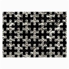 Puzzle1 Black Marble & Silver Foil Large Glasses Cloth by trendistuff