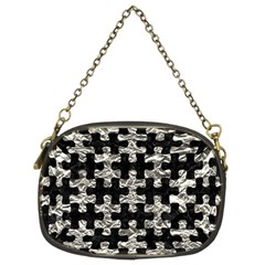 Puzzle1 Black Marble & Silver Foil Chain Purses (two Sides)  by trendistuff