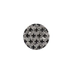 Royal1 Black Marble & Silver Foil (r) 1  Mini Magnets by trendistuff