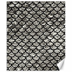 Scales1 Black Marble & Silver Foil Canvas 8  X 10  by trendistuff