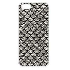 Scales1 Black Marble & Silver Foil Apple Iphone 5 Seamless Case (white) by trendistuff