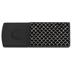 Scales1 Black Marble & Silver Foil (r) Rectangular Usb Flash Drive by trendistuff
