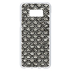 Scales2 Black Marble & Silver Foil Samsung Galaxy S8 Plus White Seamless Case by trendistuff