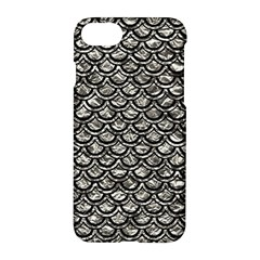 Scales2 Black Marble & Silver Foil Apple Iphone 8 Hardshell Case by trendistuff
