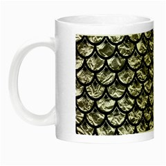 Scales3 Black Marble & Silver Foil Night Luminous Mugs by trendistuff