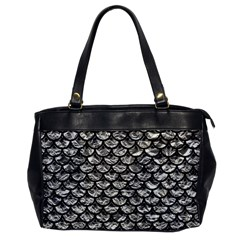 Scales3 Black Marble & Silver Foil Office Handbags by trendistuff