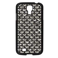 Scales3 Black Marble & Silver Foil Samsung Galaxy S4 I9500/ I9505 Case (black) by trendistuff