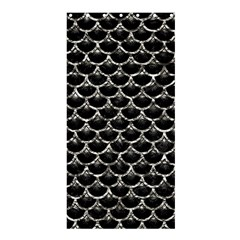 Scales3 Black Marble & Silver Foil (r) Shower Curtain 36  X 72  (stall)  by trendistuff
