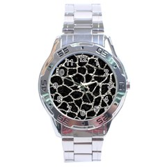 Skin1 Black Marble & Silver Foil Stainless Steel Analogue Watch by trendistuff