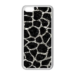 Skin1 Black Marble & Silver Foil Apple Iphone 5c Seamless Case (white) by trendistuff