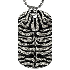 Skin2 Black Marble & Silver Foil Dog Tag (one Side) by trendistuff