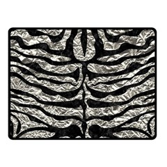 Skin2 Black Marble & Silver Foil Fleece Blanket (small) by trendistuff