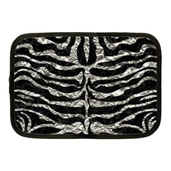 Skin2 Black Marble & Silver Foil (r) Netbook Case (medium)  by trendistuff