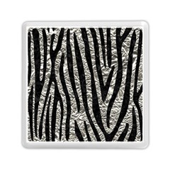 Skin4 Black Marble & Silver Foil (r) Memory Card Reader (square)