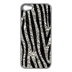 Skin4 Black Marble & Silver Foil (r) Apple Iphone 5 Case (silver) by trendistuff