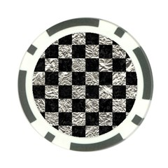 Square1 Black Marble & Silver Foil Poker Chip Card Guard (10 Pack) by trendistuff